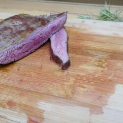 Flank Steak angeschnitten